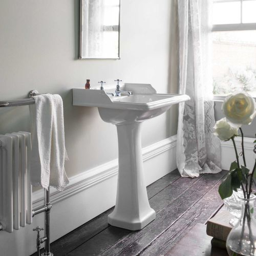 Classic Rectangle 650 Basin & Pedestal by Burlington