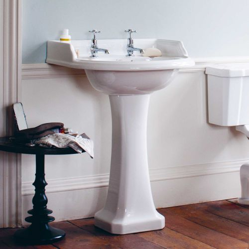 Classic Round 650 Basin & Pedestal by Burlington