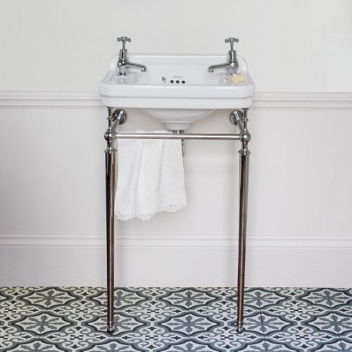Edwardian Rectangle 510 Cloakroom Basin & Wash Stand by Burlington