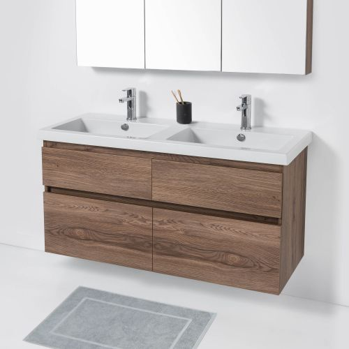 Cangas 1200 Wall-Hung Vanity Double Bowl 4 Drawers by VCBC