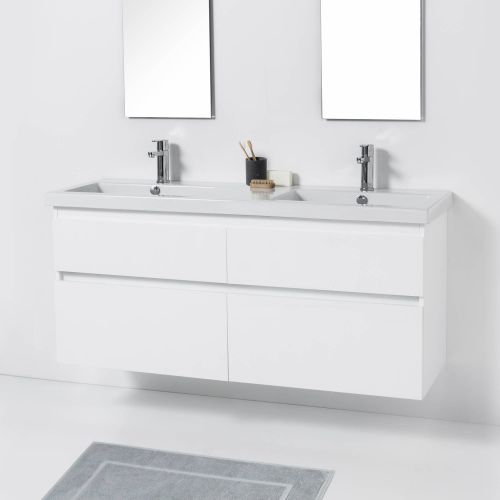 Cangas 1400 Wall-Hung Vanity Double Bowl 4 Drawers by VCBC