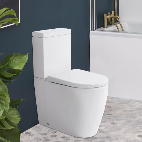 Cascade Easy Height Rimless Back-To-Wall Toilet Suite with Cistern by VCBC