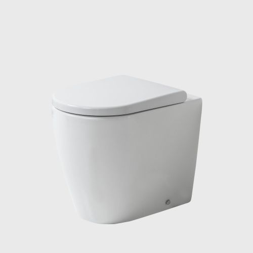 Cascade Easy Height Rimless Back-To-Wall Toilet Suite with In-Wall Cistern by VCBC