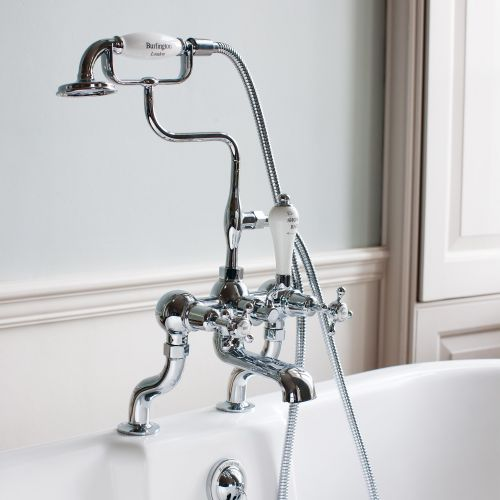 Claremont Deck Mounted Bath/Shower Mixer by Burlington