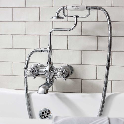 Claremont Wall-Mounted Bath/Shower Mixer by Burlington