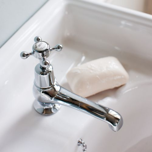 Claremont 7.6cm Basin Taps by Burlington
