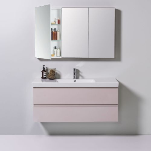 Mirror Unit 1200 - 3 Doors, 4 Shelves by Michel Cesar