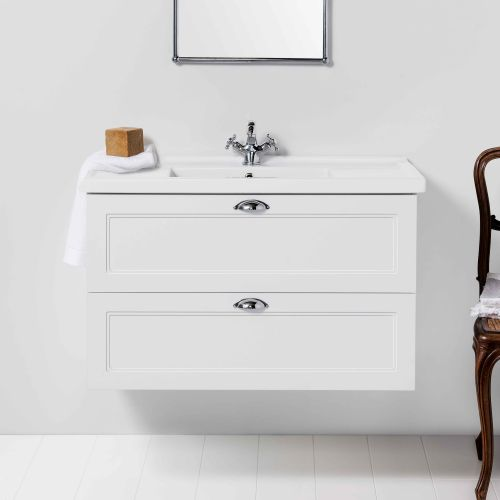 English Classic 1000 Wall-Hung Vanity 2 Drawers by Burlington