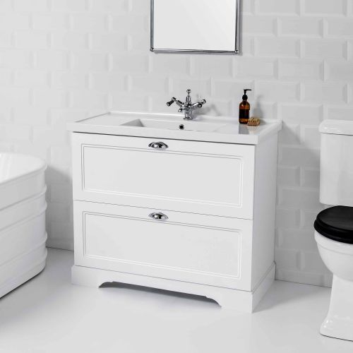 English Classic 1000 Floor Standing Vanity 2 Drawers by VCBC