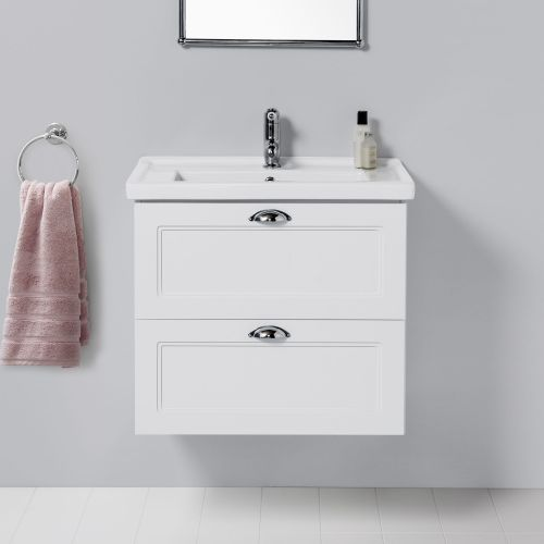 English Classic 600 Wall-Hung Vanity 2 Drawers by Burlington
