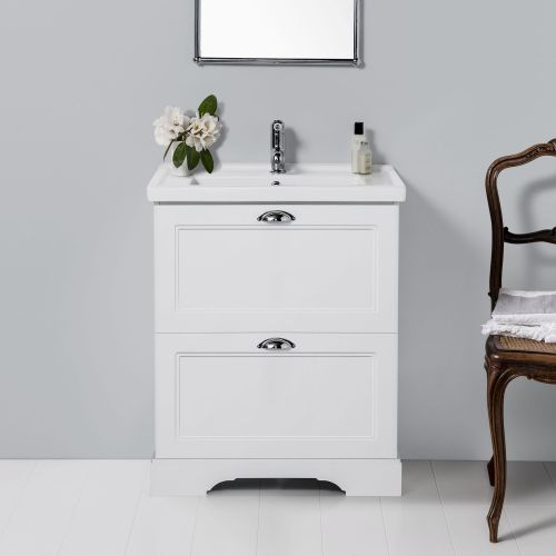 English Classic 600 Floor Standing Vanity 2 Drawers by Burlington