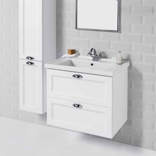 English Classic 700 Wall-Hung Vanity 2 Drawers by Burlington