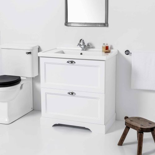 English Classic 700 Floor Standing Vanity 2 Drawers by Burlington