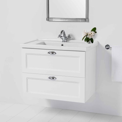 English Classic 800 Wall-Hung Vanity 2 Drawers by Burlington
