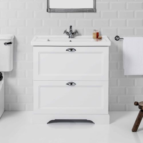 English Classic 800 Floor Standing Vanity 2 Drawers by Burlington