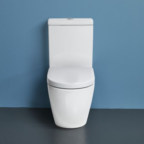 Rest Rimless Back-To-Wall Toilet Suite with Cistern by VCBC