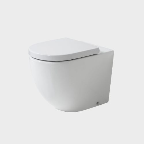 Rest Rimless Back-To-Wall Toilet Suite with In-Wall Cistern by VCBC