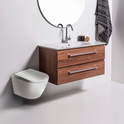 Rest Rimless Wall-Hung Toilet Suite with In-Wall Cistern by VCBC