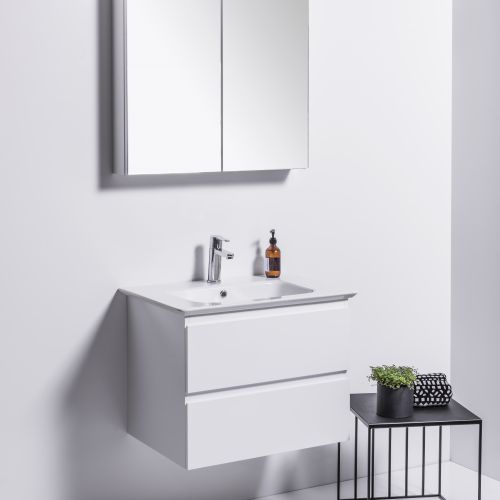Sharp 700 Wall-Hung Vanity 2 Drawers by VCBC