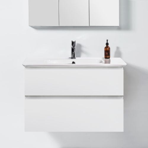 Sharp 900 Wall-Hung Vanity 2 Drawers by VCBC