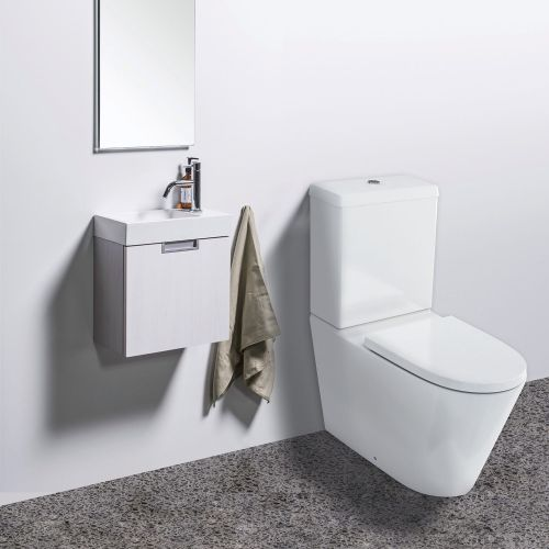 Sphere Easy Height Rimless Back-To-Wall Toilet Suite with Cistern by VCBC