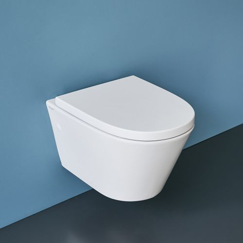 Sphere Rimless Wall-Hung Toilet Suite with In-Wall Cistern by VCBC