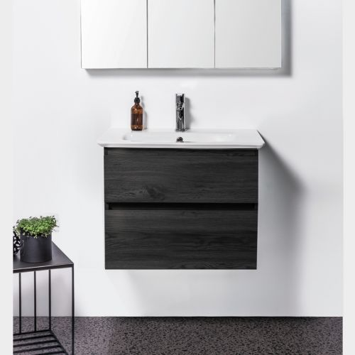 Sharp 700 Wall-Hung Vanity, 2 Drawers by VCBC
