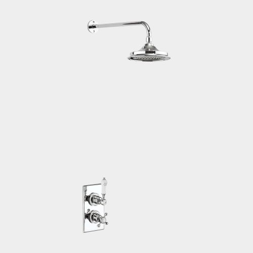 Trent Thermostatic Single Outlet Concealed Shower Valve with Fixed Shower Arm by Burlington