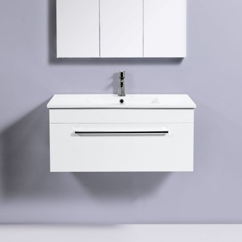 Zara 900 Wall-Hung Vanity 1 Drawer by VCBC