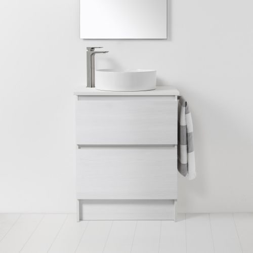 Soft Solid Surface 650 Floor Standing Vanity 2 Drawers by VCBC
