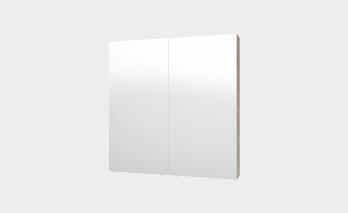 Mirror Unit 750 – 2 Doors, 2 Shelves