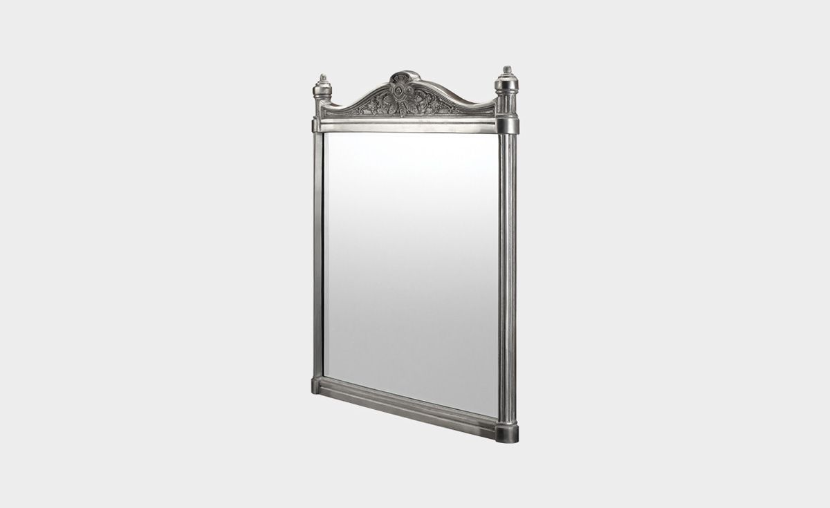 Georgian Brushed Aluminium Mirror