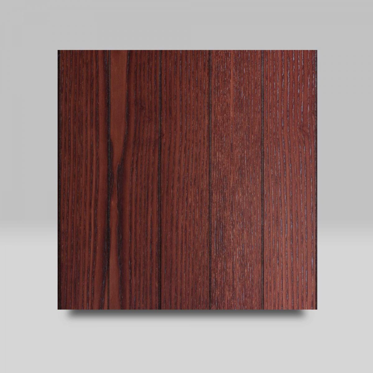 Chestnut with Vertical Grooves finish