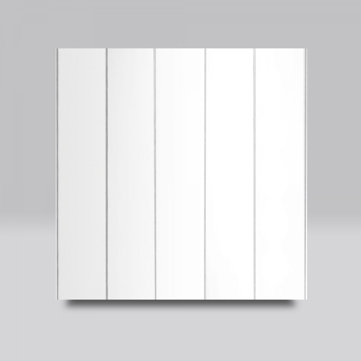White paint with Vertical Grooves finish