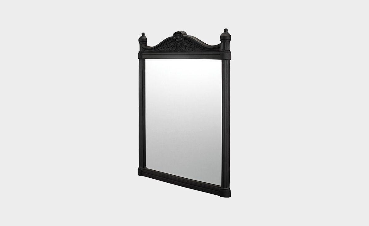 Georgian Black Aluminum Frame Mirror