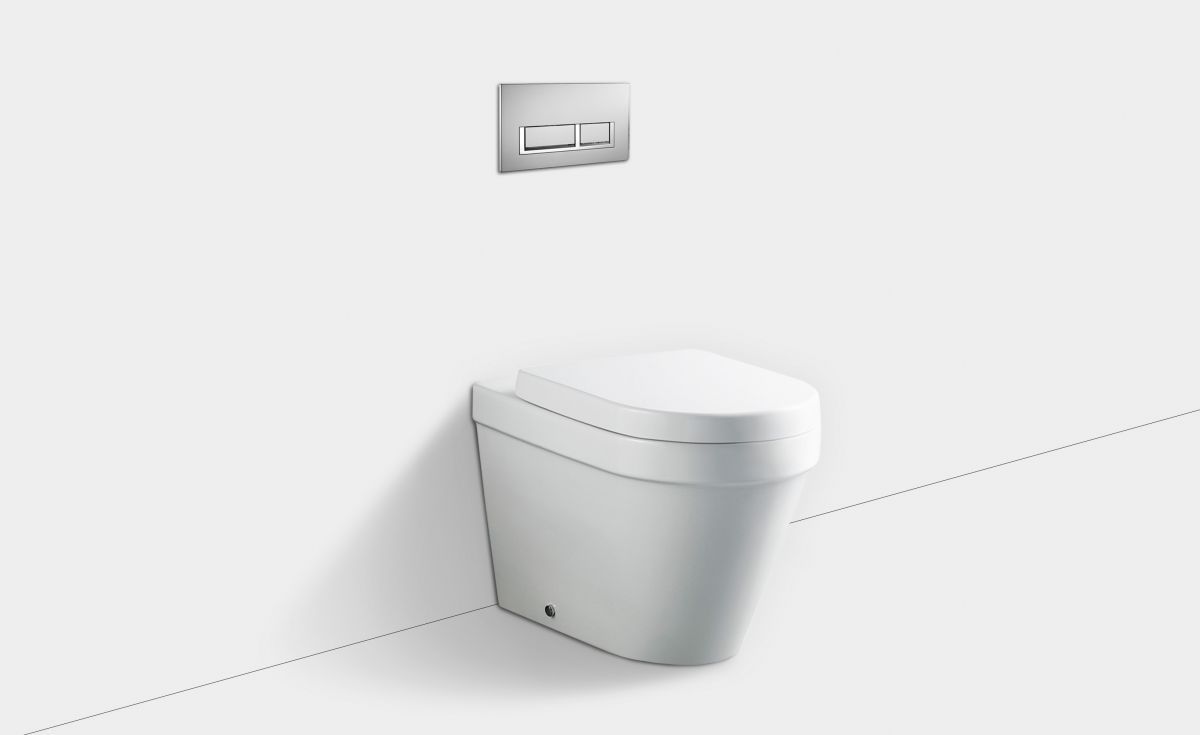 Onda Wall-Faced Toilet Suite with In-Wall Cistern