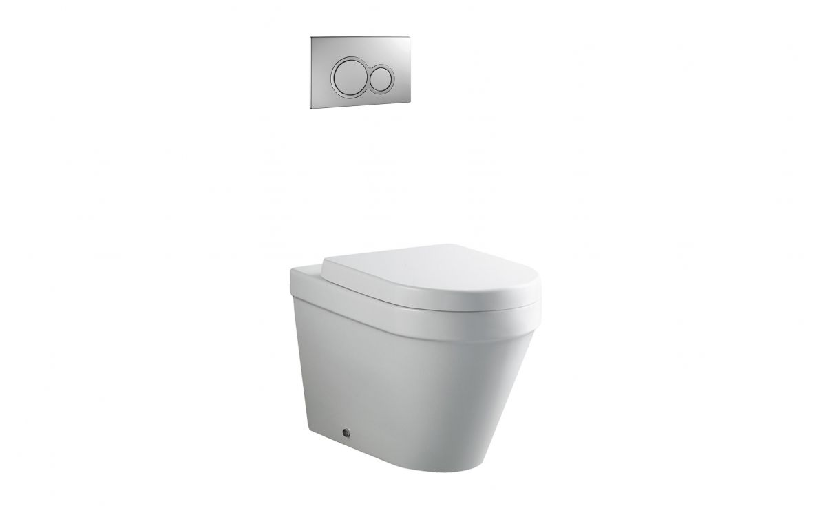 Onda Back-to-Wall Toilet Suite with In-Wall Cistern