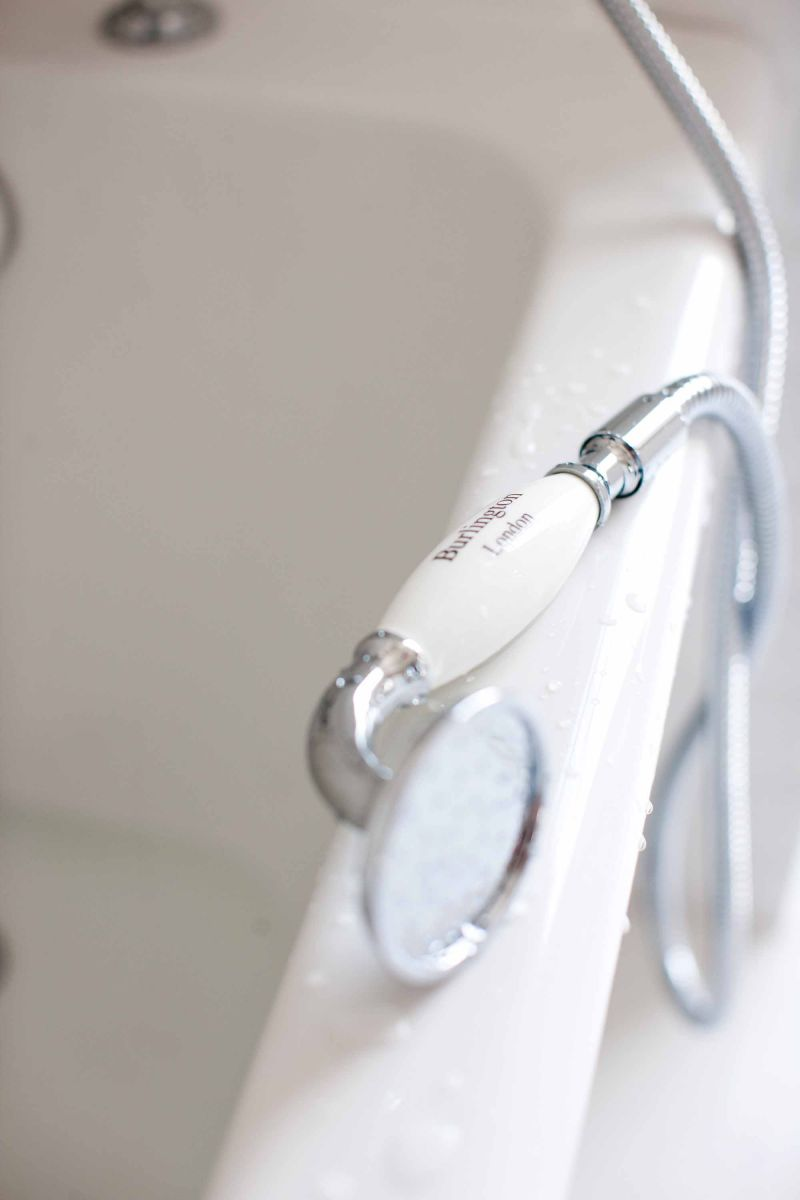 Trent Thermostatic Two Outlet Concealed Shower Valve, Fixed Shower Arm, Handset & Holder with Hose