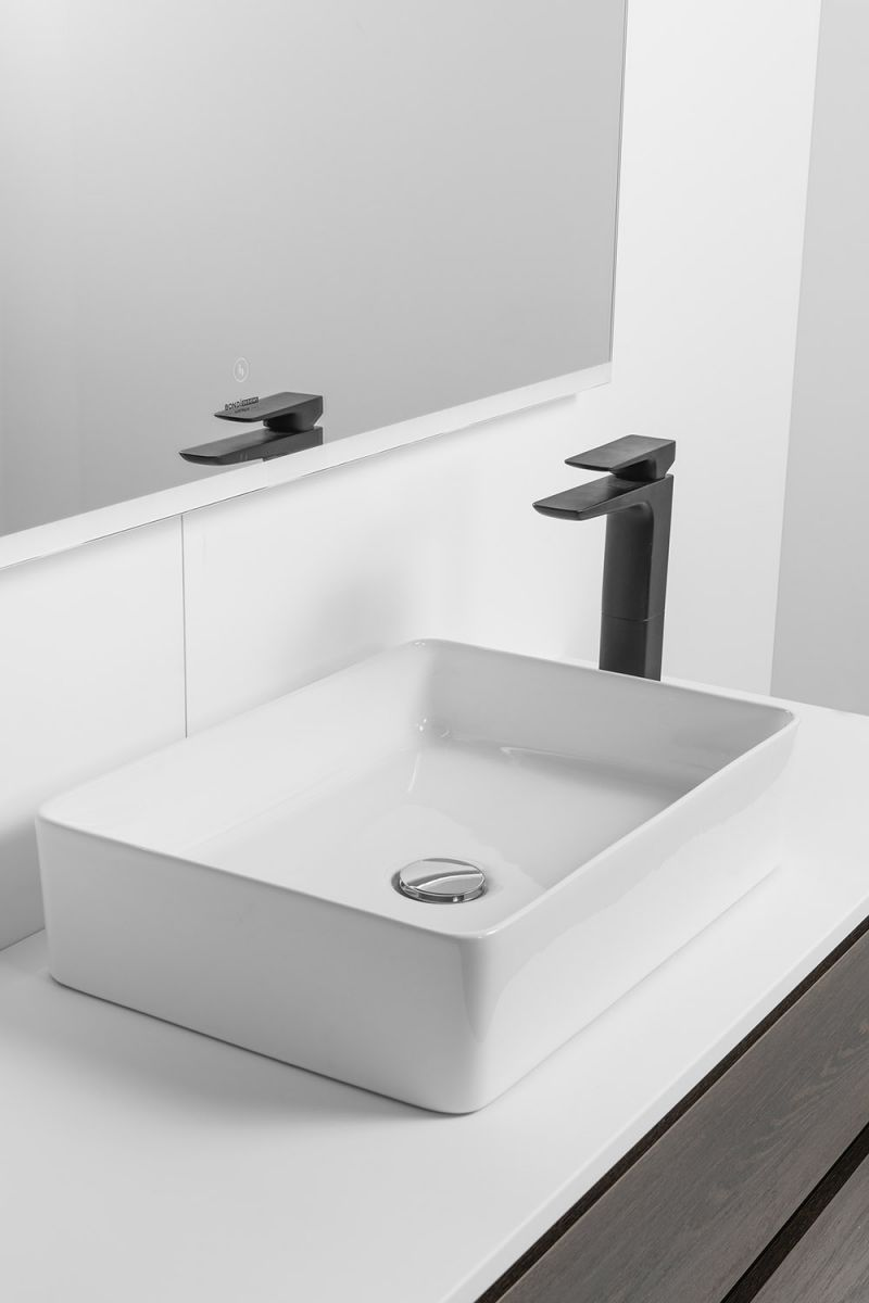 Soft Solid Surface 1000 Floor Standing Vanity 2 Drawers