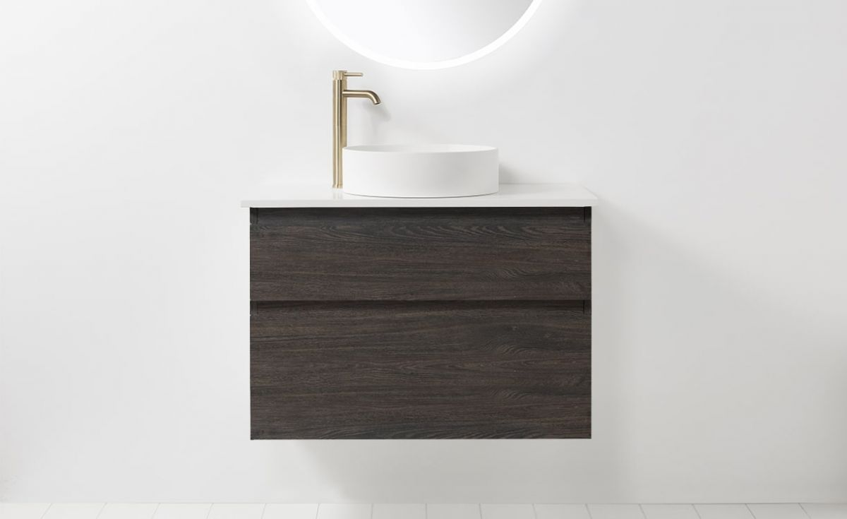 Soft Solid Surface 800 Wall-Hung Vanity 2 Drawers
