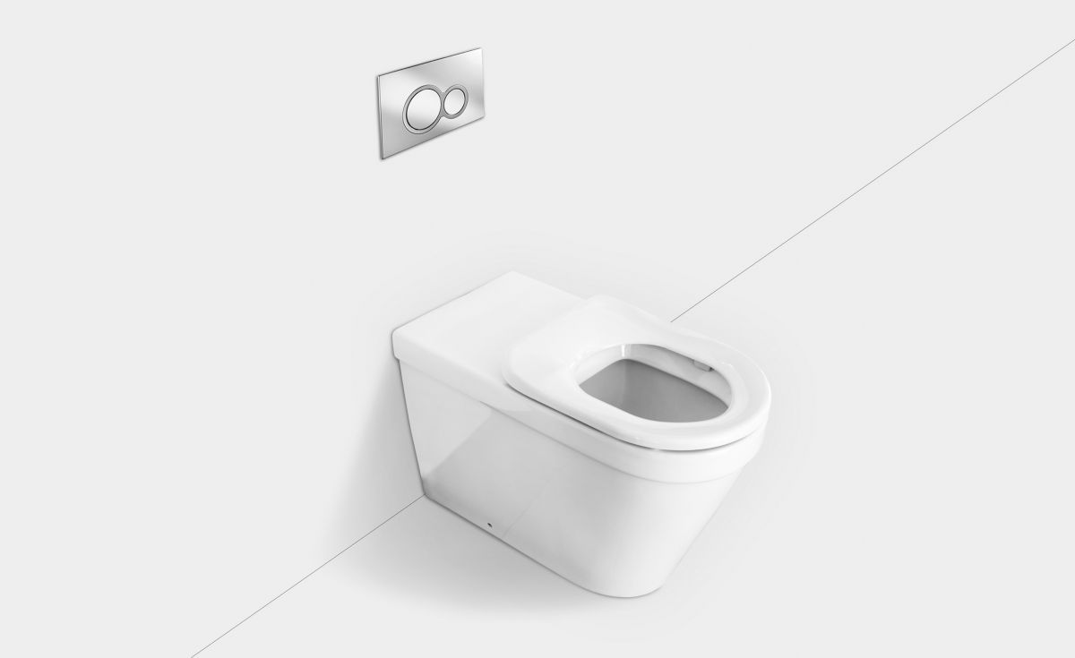 Onda Accessible Extended Wall-Faced Toilet Suite with Single Seat