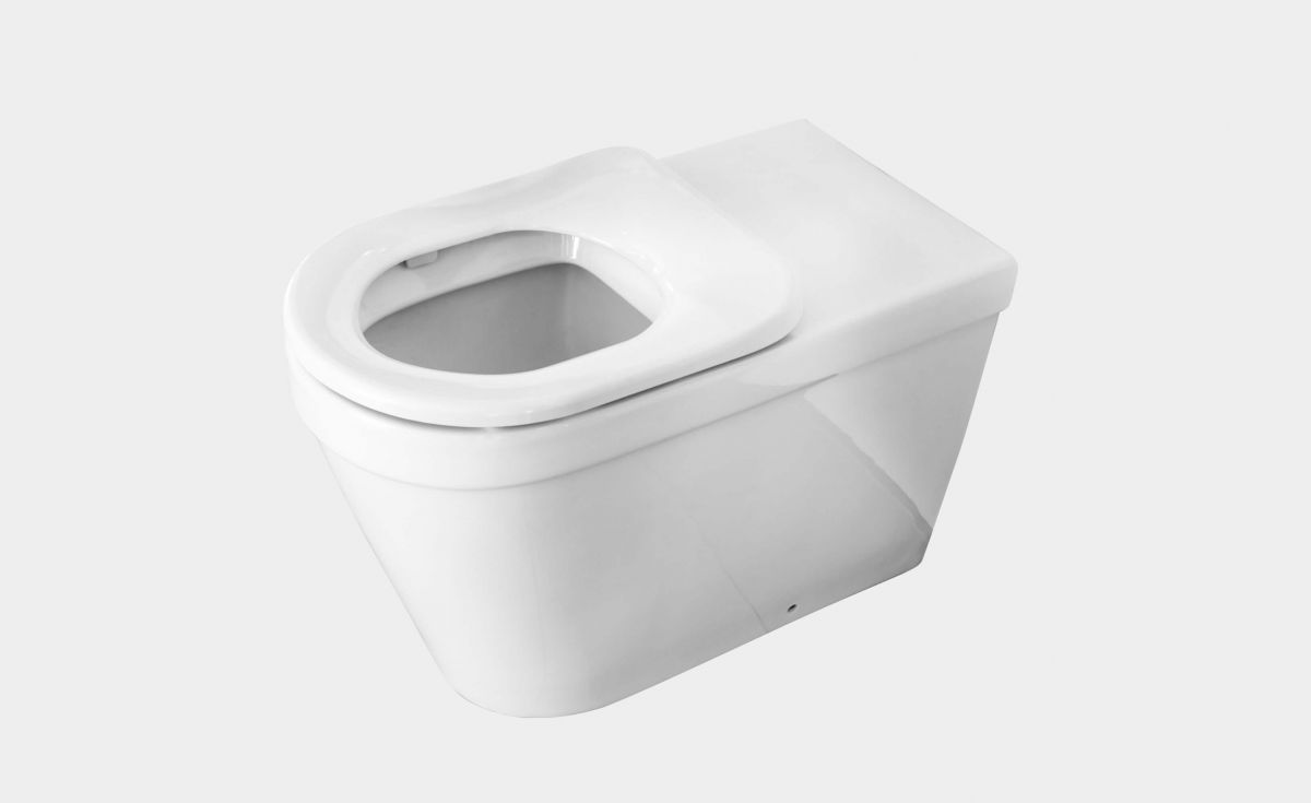 Onda accessible extended BTW toilet with sing