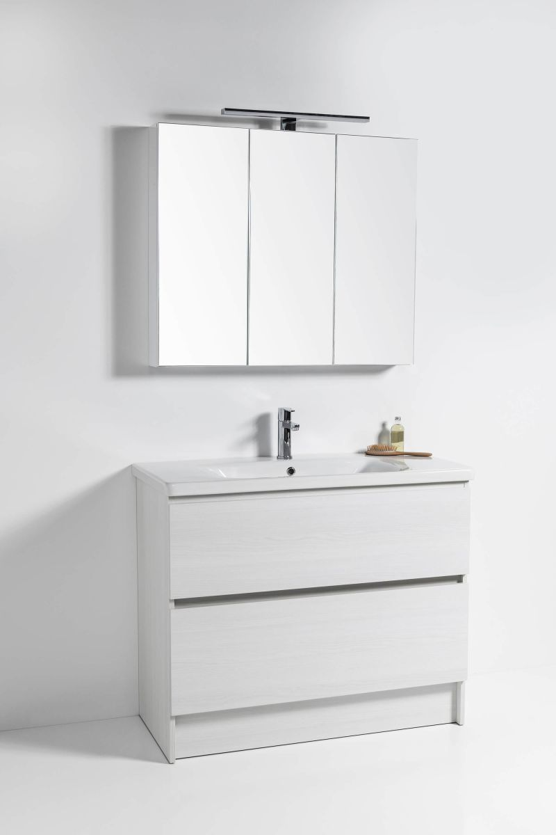 Soft Vanity - 900mm, floor-standing, 2 drawer