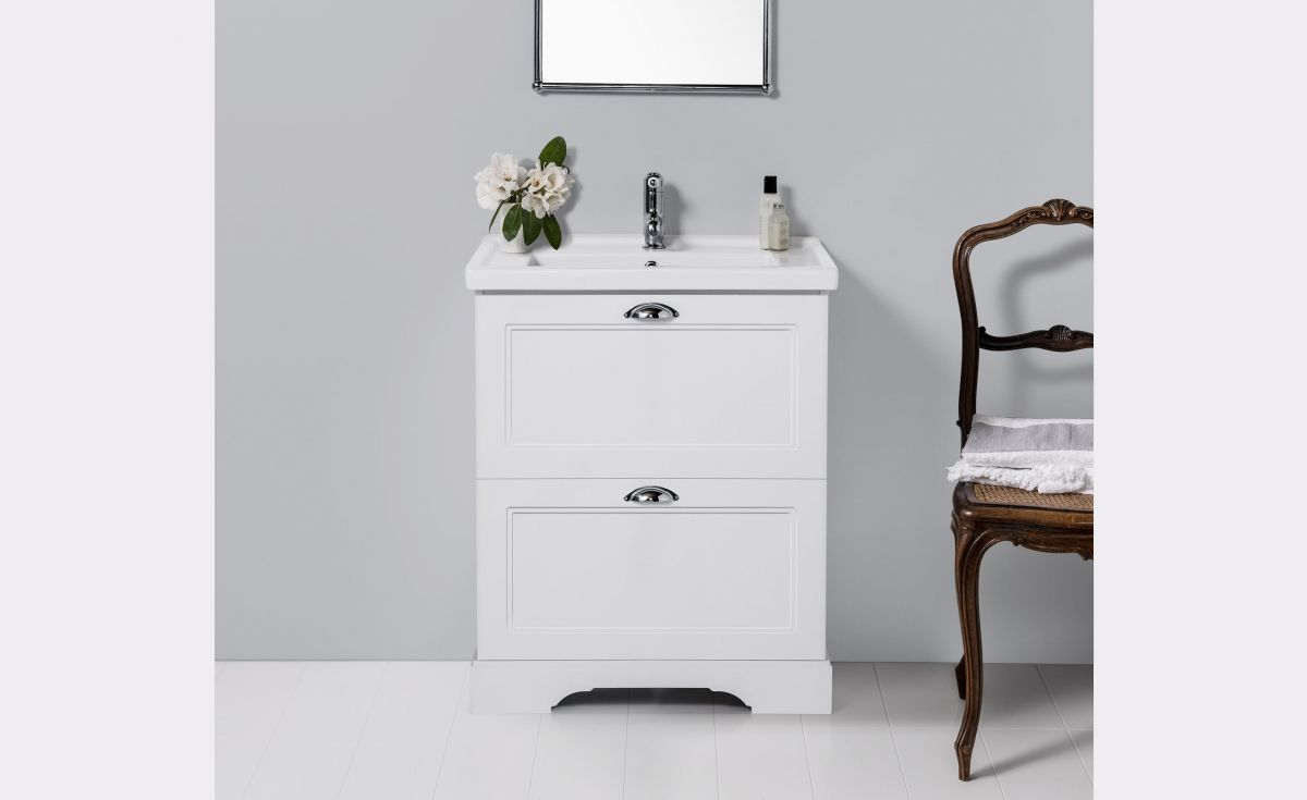 English Classic 600 Floor Standing Vanity 2 Drawers