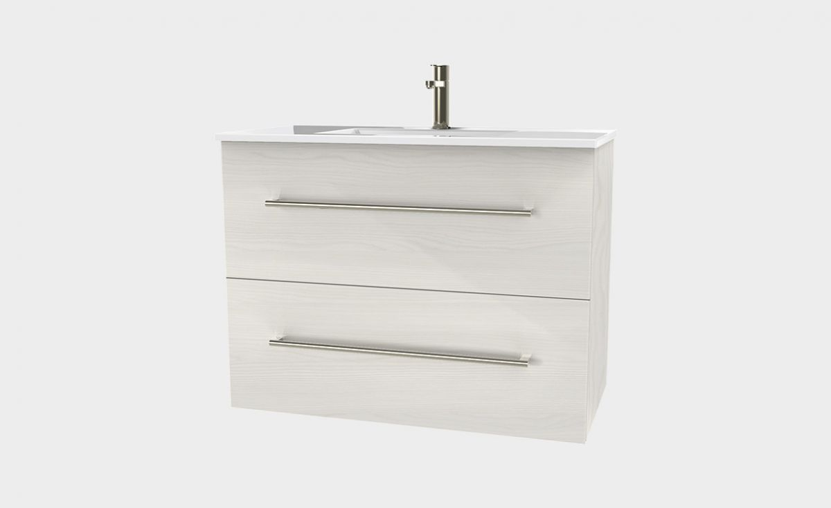 Zara 1000 Wall-Hung Vanity 2 Extra Deep Drawers