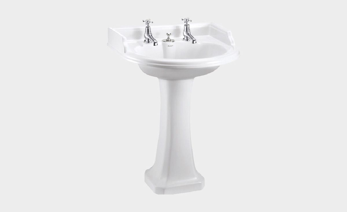 Classic Round 650 Basin with Invisible Overflow & Pedestal