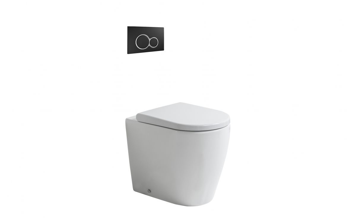 Cascade Easy Height Rimless Back-To-Wall Toilet Suite with In-Wall Cistern