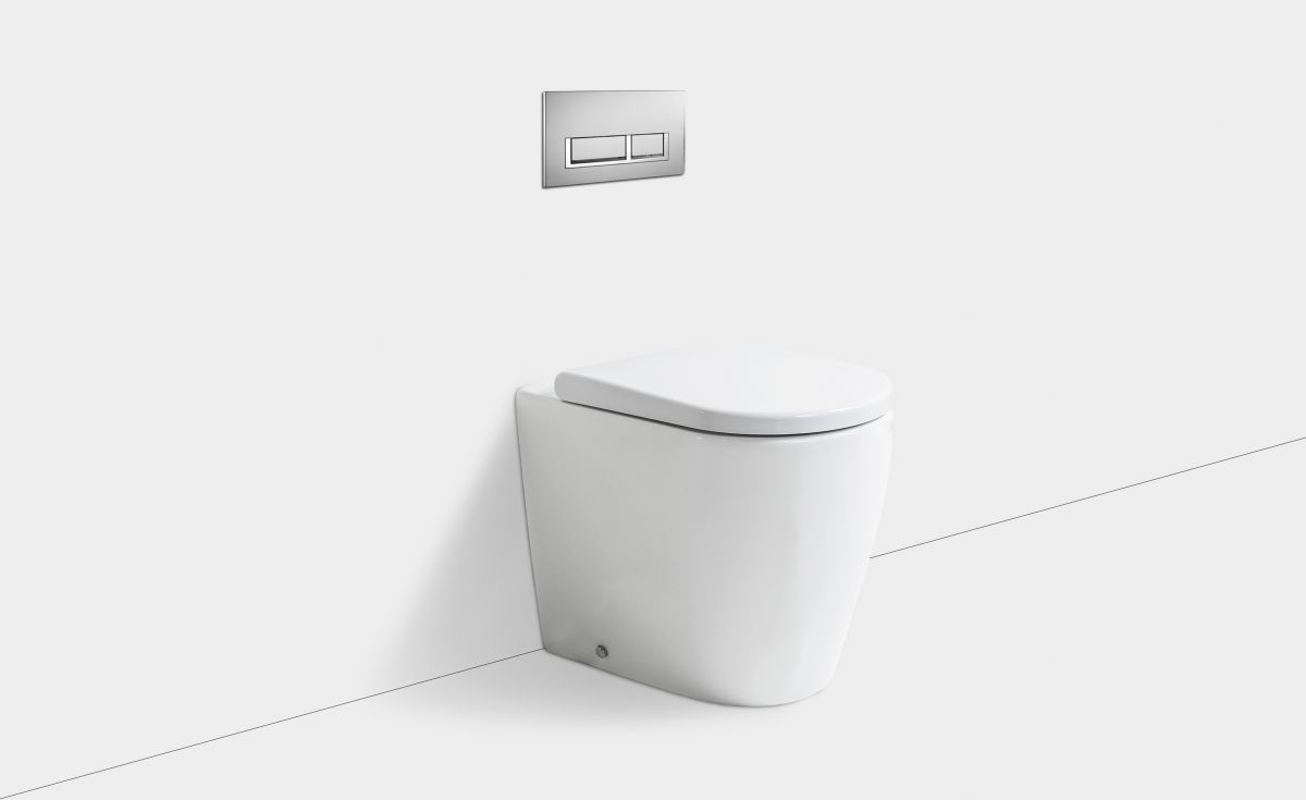 Cascade Easy Height Rimless Wall-Faced Toilet Suite with In-Wall Cistern