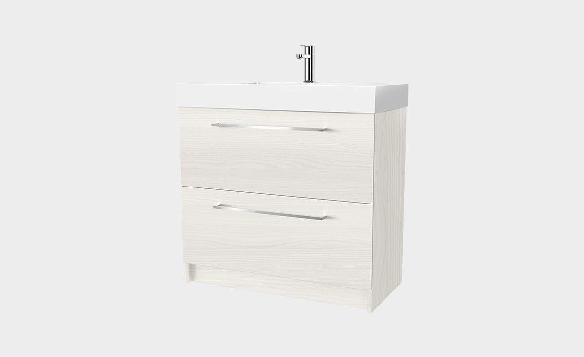 Splash 900 Floor Standing Vanity 2 Drawers Bath Co