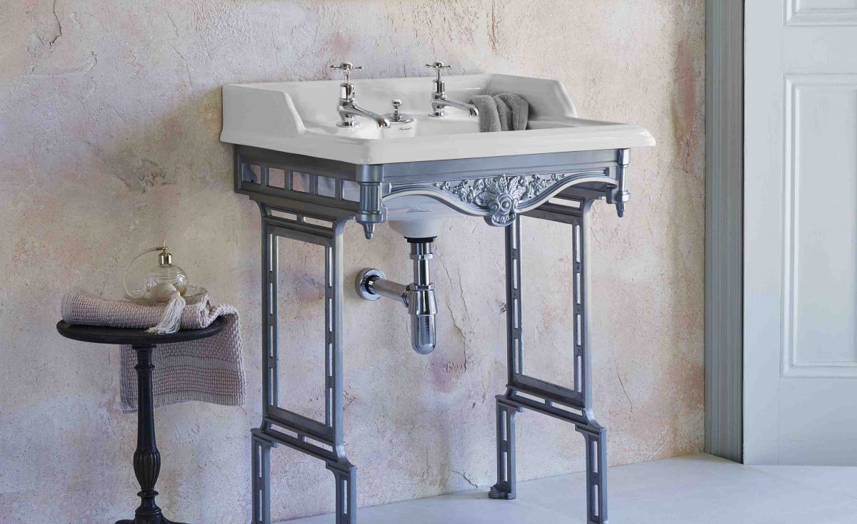 Classic Rectangle 650 Basin with Invisible Overflow & Traditional Stand